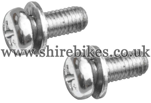 Honda Side Number Plate Screws & Washers (Pair) suitable for use with Z50R