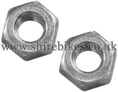 Honda Cylinder Head Exhaust Stud Nuts (Pair) suitable for use with CZ100, Z50M, Z50A, Z50J1, Z50R, Z50J, Dax 6V, Dax 12V, Chaly 6V, C90E