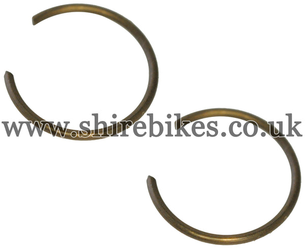 Honda Piston Circlips (Pair) suitable for use with CZ100, Z50A, Z50J1, Z50R, Z50J, Dax 6V, Dax 12V, Chaly 6V, C90E