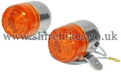 Honda 6V Chrome Indicators (Pair) suitable for use with Z50A, Z50J1, Dax 6V