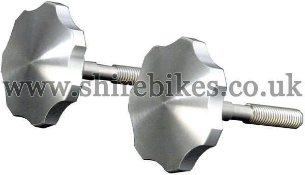 "Takegawa Aluminium ""CZ100 Style"" Aluminium Handlebar Knobs (Pair) suitable for use with Dax 6V, Dax 12V, Z50J"