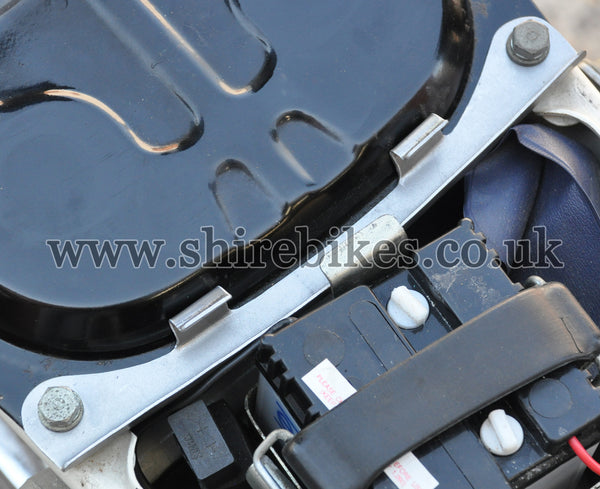 Reproduction Bare Metal Battery Cover Bracket suitable for use with Chaly 6V
