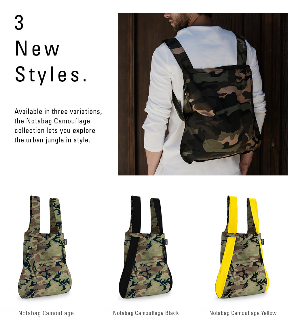 New Notabag Camouflage Collection in 3 Styles