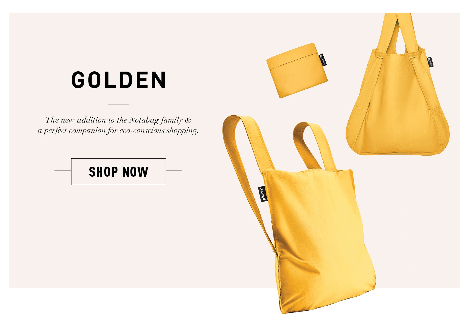 Shop Notabag Golden Now
