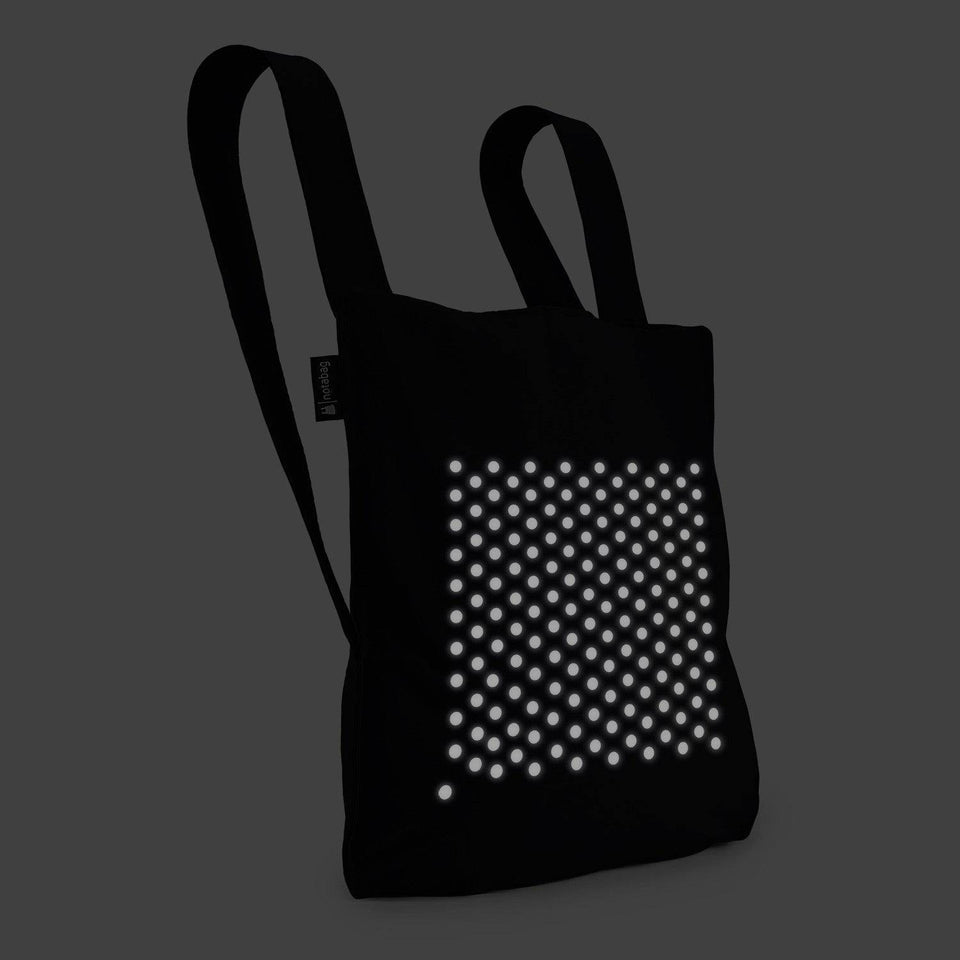 Reflective Print Notabag – Black