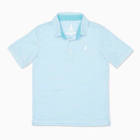 Cayman Stripe Bunker Polo