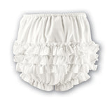 Ivory Ruffled Bloomer