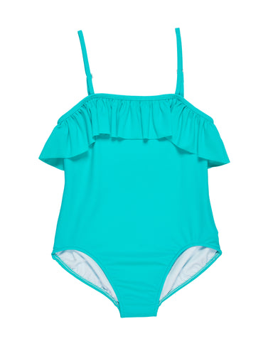 florence eiseman older girls jade ruffle swimsuit