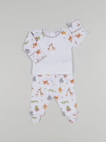 Jolly Jungle Footed Pant Set