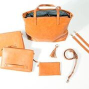 cognac bella tunno boss diaper bag