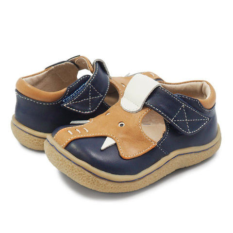 little boy livie and luca navy elephant shoe