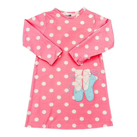 pink and white polka dot knit ballet applique bailey boys