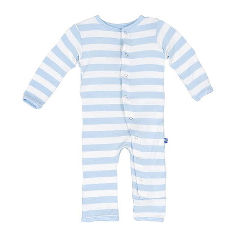 Blue Stripe Print Coverall
