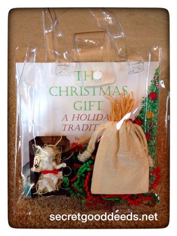 The Christmas Gift Book Set with White-Glazed Baby Jesus