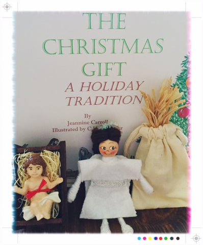 The Christmas Gift Book Set with Angel Dressed in White