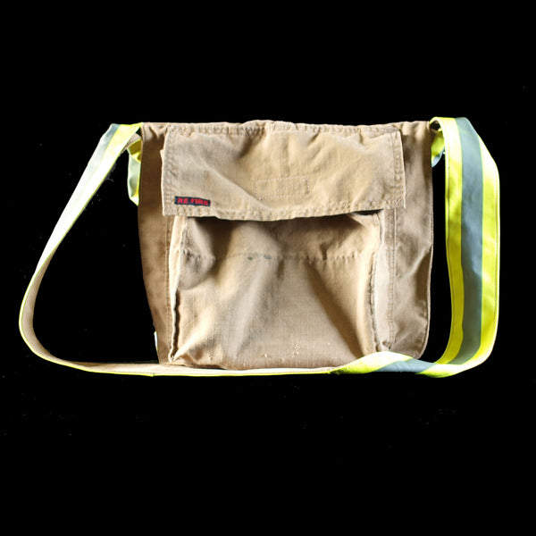 messenger bag - recycled fire turnout gear