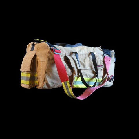 duffle bag - recycled fire turnout gear