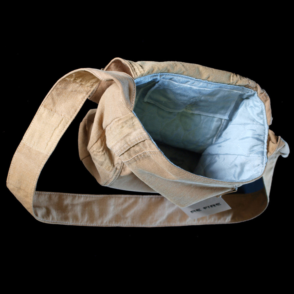 Recycled bunker gear bags -  Messenger Bag Recycled Fire Turnout Gear