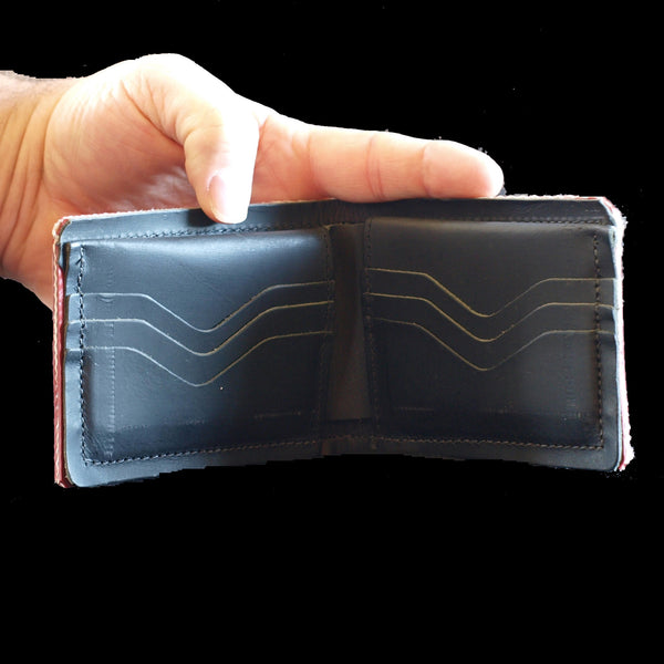 Wallet - recycled fire hose - interior