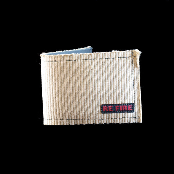 Wallet - recycled fire hose - white