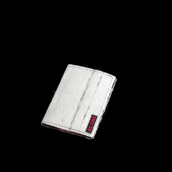 booklet - book - sketchbook - notebook - recycled fire hose - white black