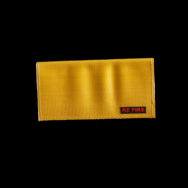 wallet, envelope, recycled fire hose, ladies', yellow