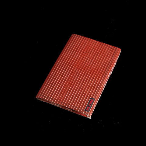 booklet - book - sketchbook - notebook - recycled fire hose - red