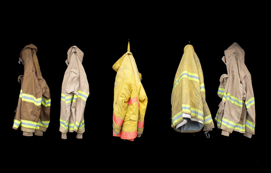 recycled, firefighter, turnout gear