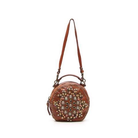 Campomaggi embellished stud cross body bag
