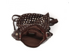 Campomaggi small cross-body bag with studs and rhinestones/ dark brown (only one available)