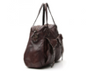 Campomaggi Shoulder bag w/ two front pockets and small studs/ dark brown (Pre- Order)
