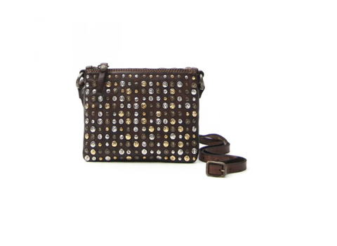 Campomaggi small studded cross body shoulder bag