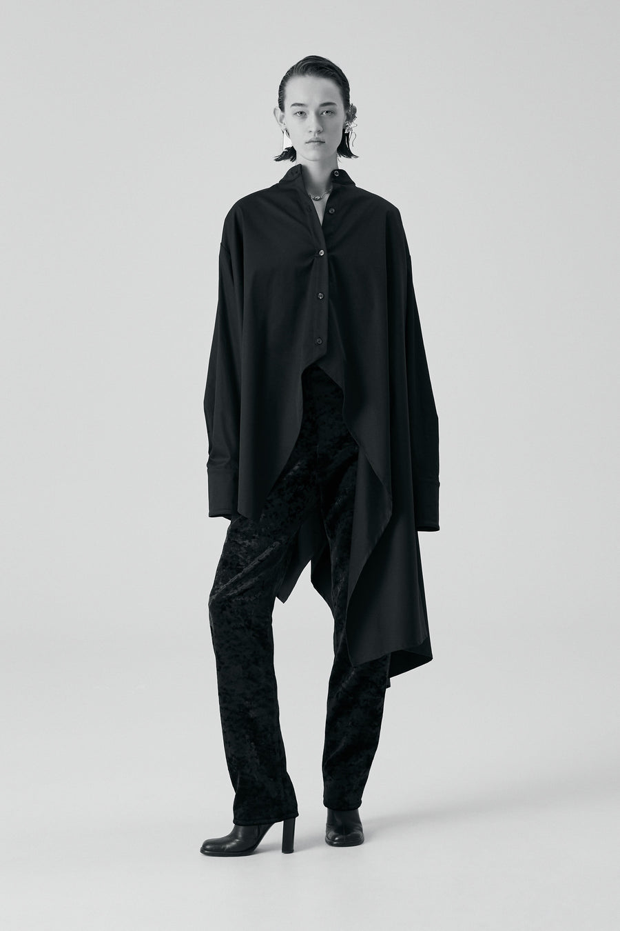 Sid Neigum Oversized Asymmetrical Button-Up Model FW19