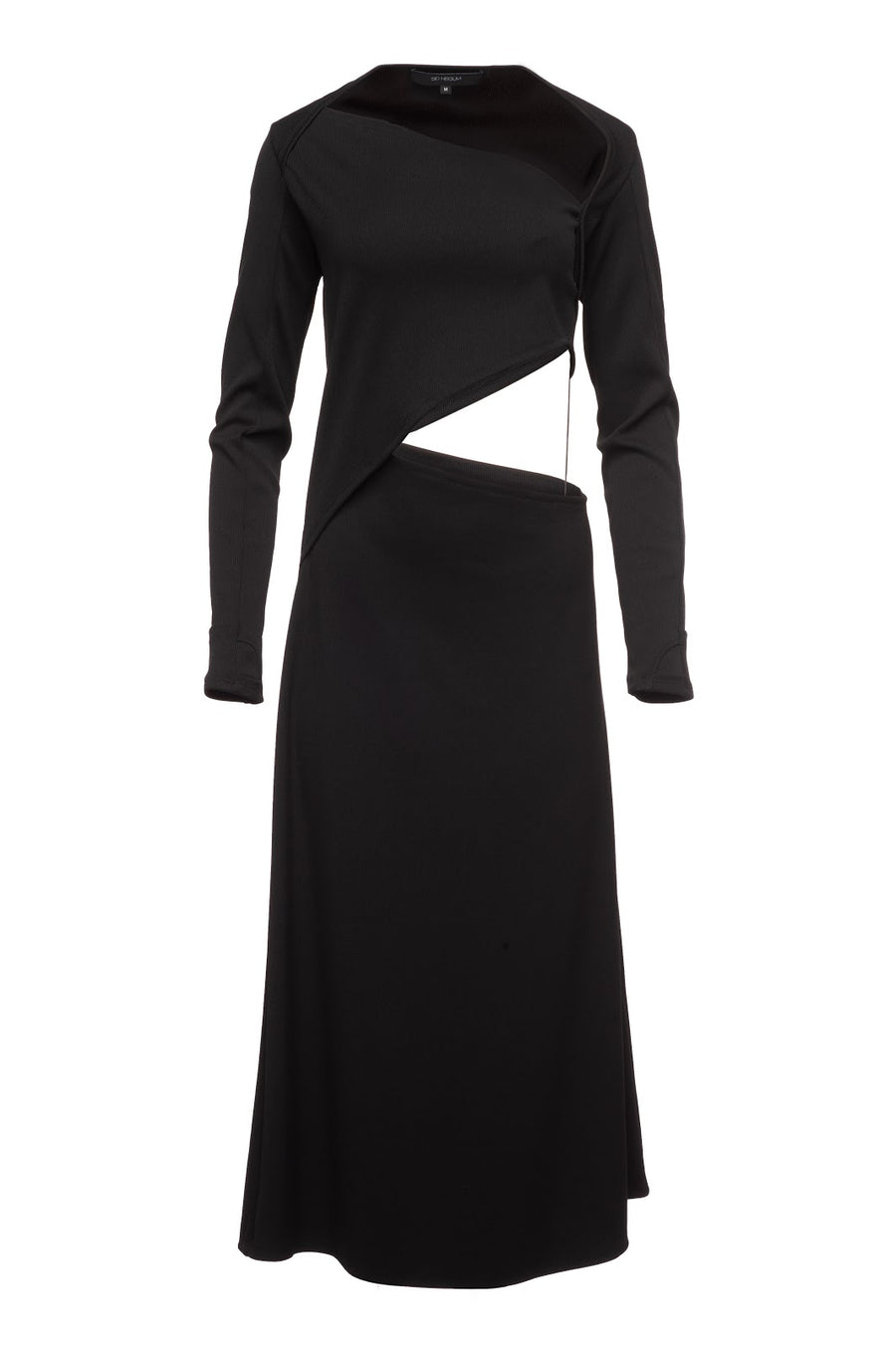 Asymmetrical Rib Knit Cut Out Dress Sid Neigum Off Figure