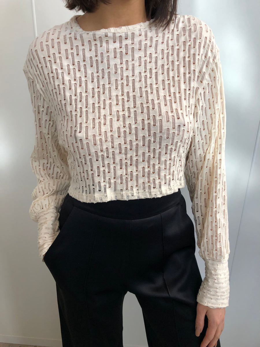 SHEER ITALIAN KNIT BLOUSE