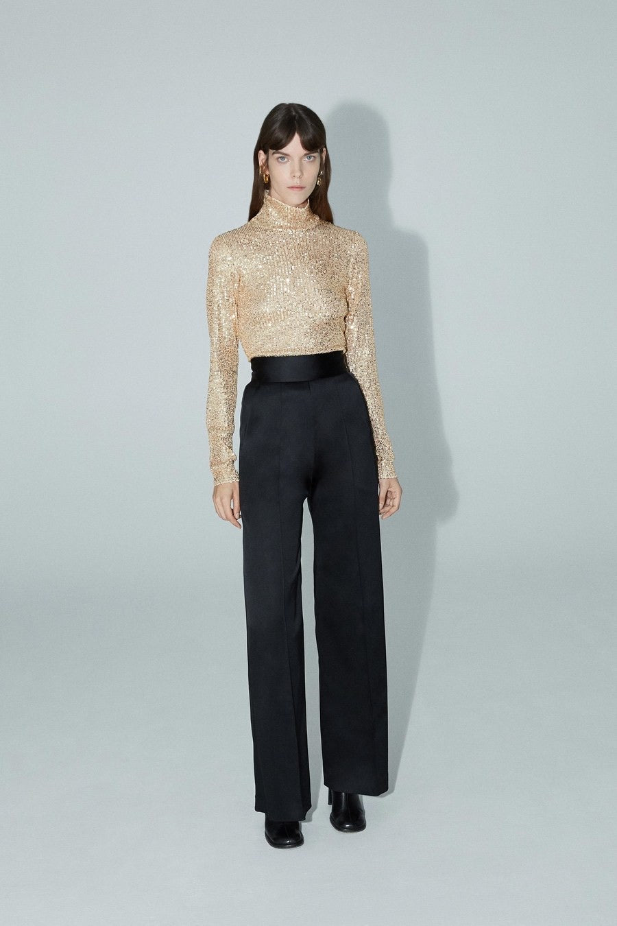 Sequins mock neck