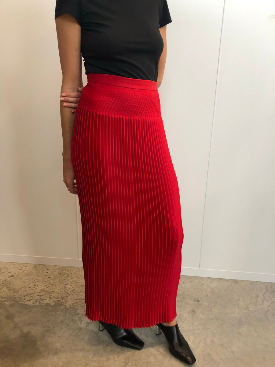 Signature pleated skirt