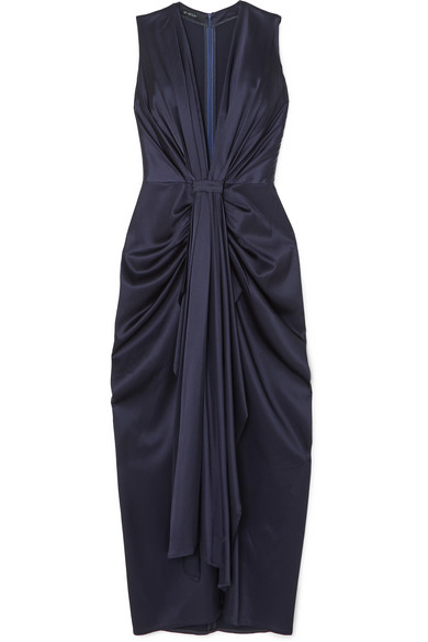 DEEP V DRAPED GOWN