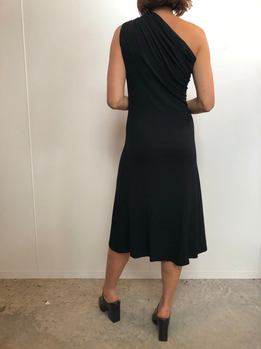One shoulder knot dress