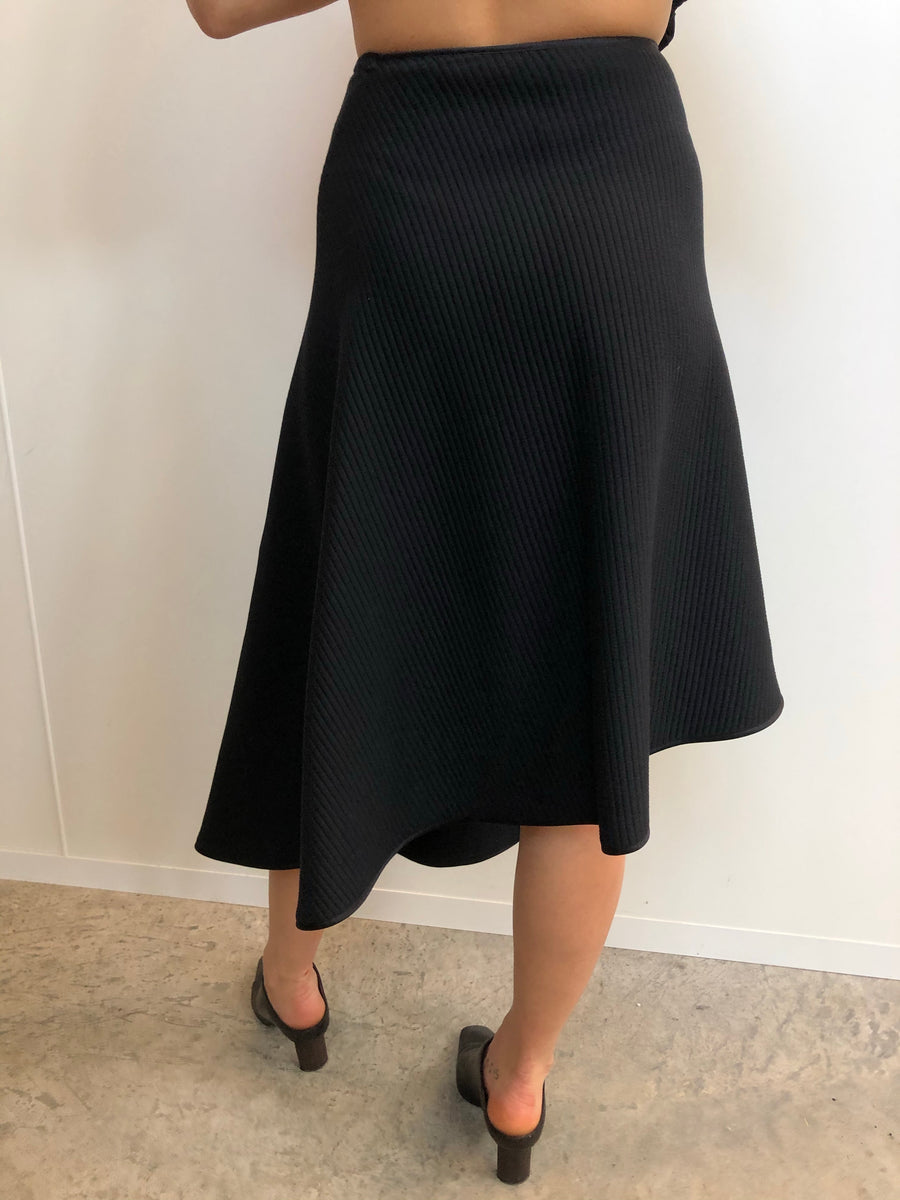 Knit wrap skirt