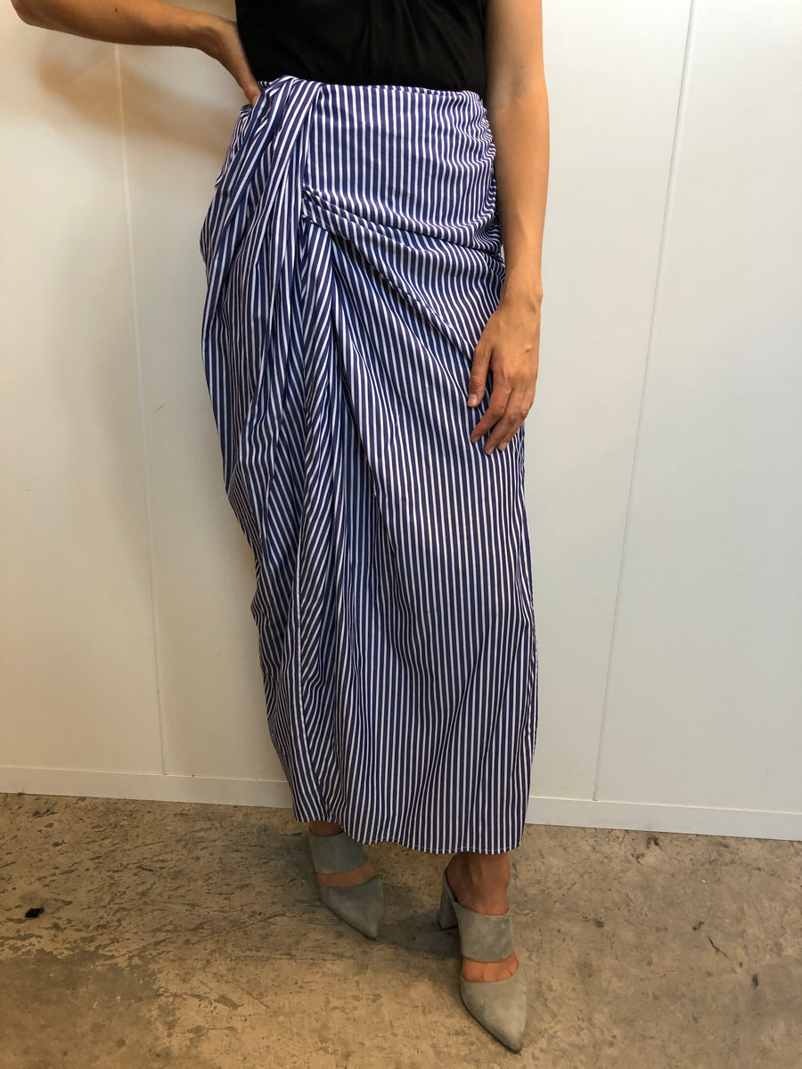 Draped cotton skirt