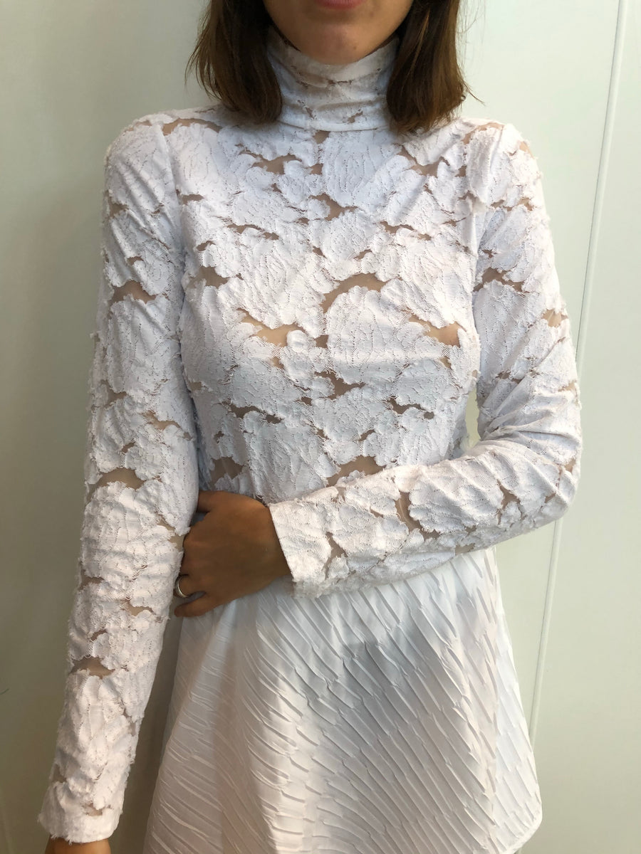 Flocked knit long sleeve
