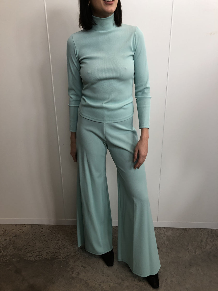 MINT GREEN WIDE LEG PANT