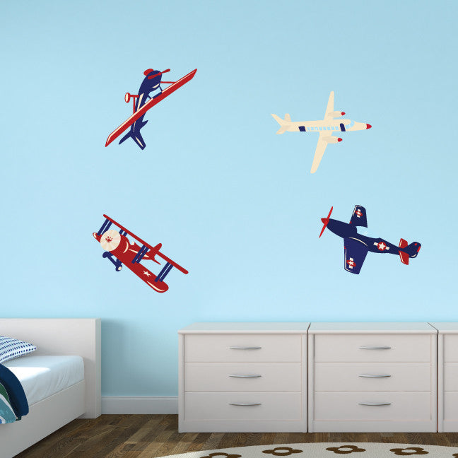 Airplane Fabric Wall Decals