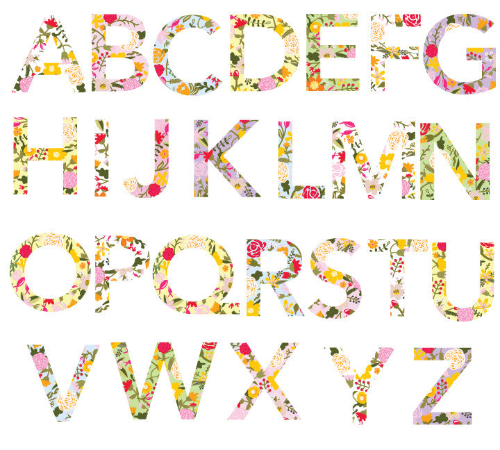Alphabet in Floral Design