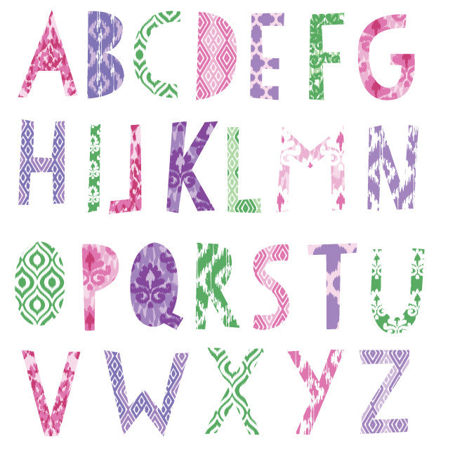 Alphabet in IKAT