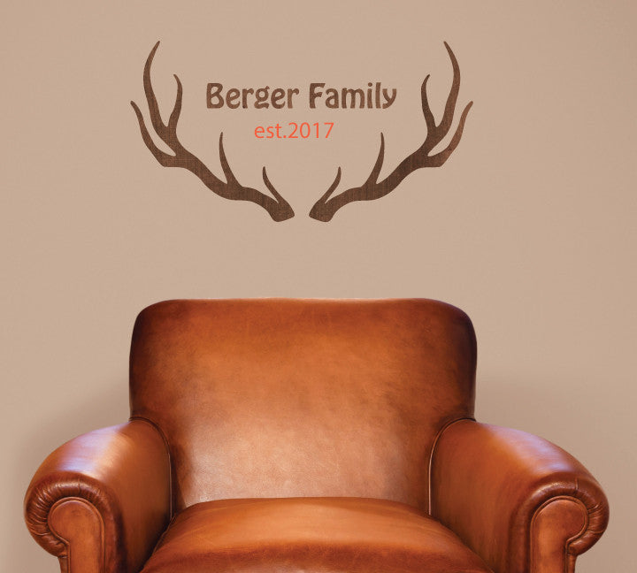 Antler Wall Decal Personalized