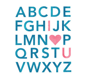 Alphabet Watercolor Wall Decals