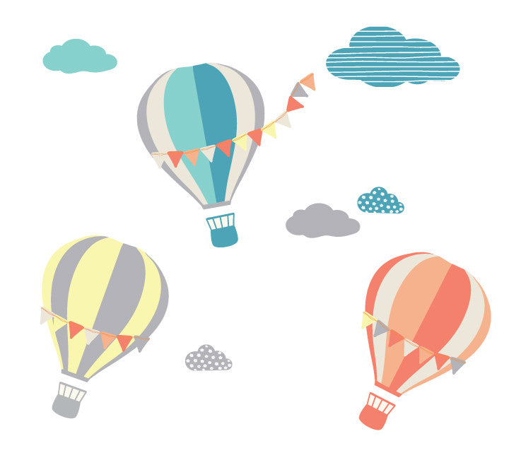 Hot Air Balloon Wall Decals