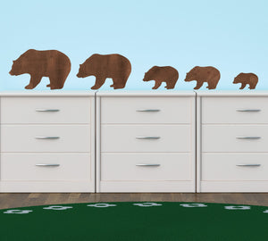 Bear Family Eco Wall Decals